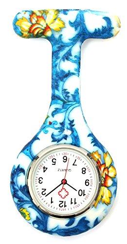 KAIKSO IN Bunte Silikon Edelstahl runden Zifferblatt Quarz Fob Quarz Taschen Krankenschwester Uhr Nettes J
