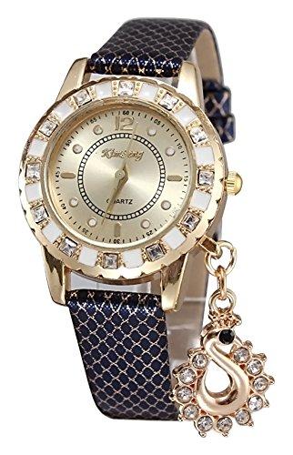 KAIKSO IN Art und Weise Dame Kleid Uhren Schwan haengende Armbanduhr Quarz Armband Armbanduhr Blau