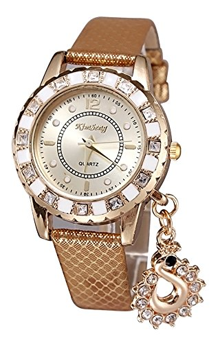 KAIKSO IN Art und Weise Dame Kleid Uhren Schwan haengende Armbanduhr Quarz Armband Armbanduhr Golden
