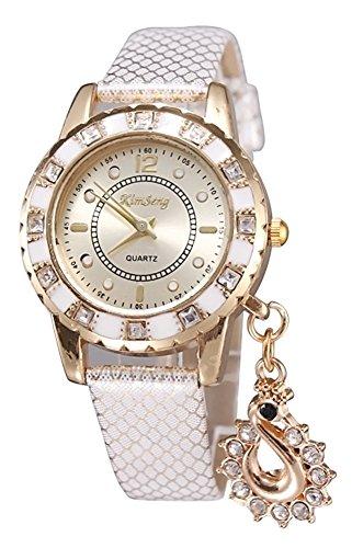 KAIKSO IN Art und Weise Dame Kleid Uhren Schwan haengende Armbanduhr Quarz Armband Armbanduhr Silber