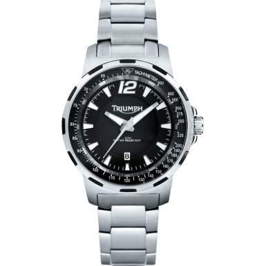 Triumph 3052-11 Mens Black Silver Watch
