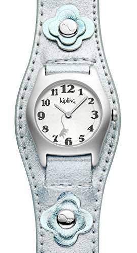 Kipling Captain Silber Metallic girlK9400277 Analog Quarz Leder blau