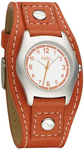 Kipling Kinder-Armbanduhr Captain - Orange Analog Leder Orange K9400397