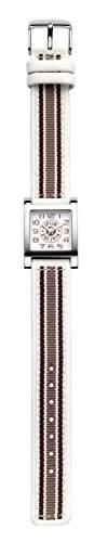 Kipling Maedchen-Armbanduhr Kipling Square Analog Leder Weiss K9400459