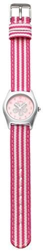 Kipling Kipling Mädchen Armbanduhr pink Analog-Anzeige und Armband aus Stoff K9400468, Rosa