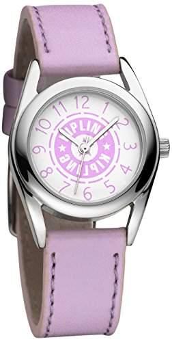Kipling Pink Maedchen Quarz-Armbanduhr mit rosa Zifferblatt Analog-Anzeige und Pink Leder Strap k9400477