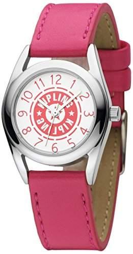 Kipling Kipling Girl Maedchen Quarz-Armbanduhr mit rosa Zifferblatt Analog-Anzeige und Pink Leder Strap k9400478
