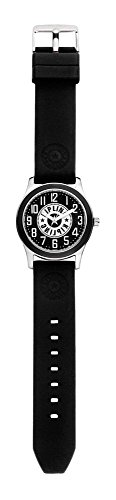 Kipling Kinder Watch Aluminium Fall mit schwarz Band k9400571