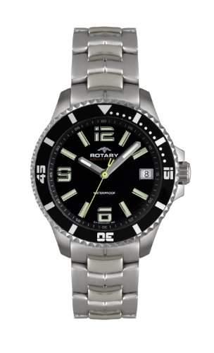Rotary Herren-Armbanduhr XL Analog Quarz Edelstahl AGB00074W04