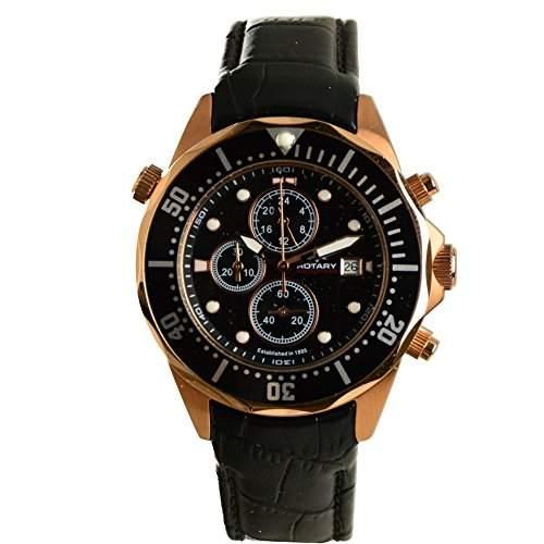 Rotary Aquaspeed Black Dial Strap Watch AGS00070C04