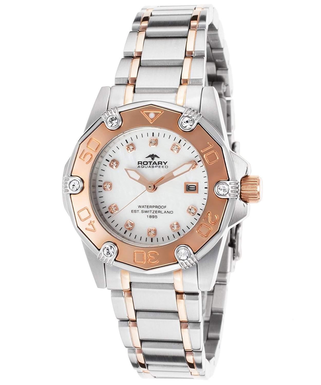 Rotary Damen-Armbanduhr XS Aquaspeed Analog Edelstahl ALB00033W40