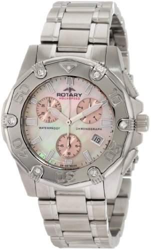 Rotary Damen-Armbanduhr Aquaspeed Chronograph Edelstahl ALB90033C07