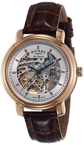 Rotary Herren-Armbanduhr XL Analog Quarz Edelstahl beschichtet GB0266120