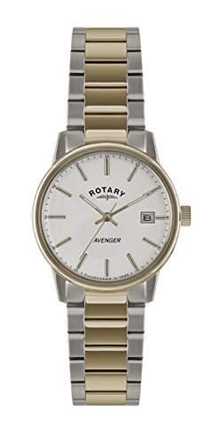 Rotary Herren-Armbanduhr XL Analog Quarz Edelstahl beschichtet GB0287506