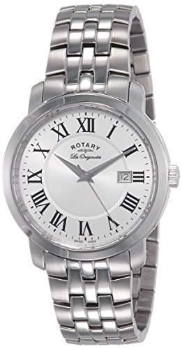 Rotary Herren-Armbanduhr Analog Quarz Edelstahl beschichtet GB9011303