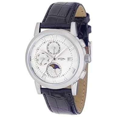 Rotary Herren-Armbanduhr XL Timepieces Analog Automatik Leder GS0237701
