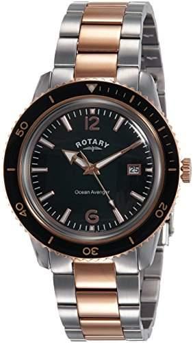 Rotary Watches Herren-Armbanduhr Sloane Analog Quarz Leder GS0246203