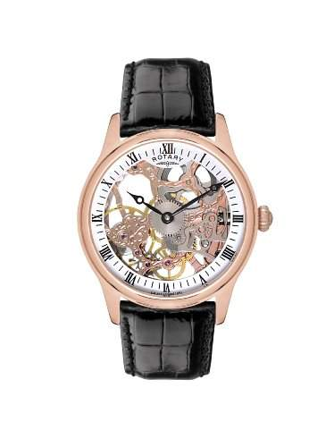 Rotary Herren-Armbanduhr XL Timepieces Analog Handaufzug Leder GS0252201