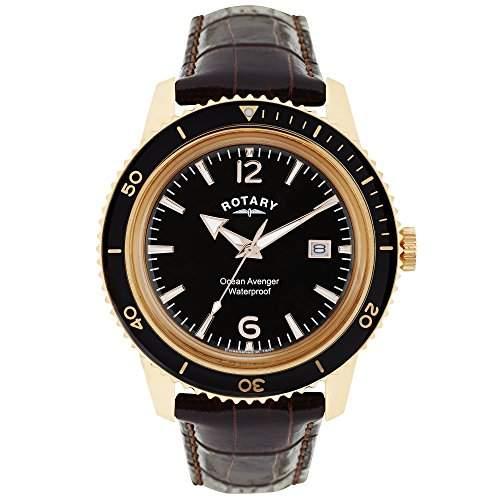 Rotary Herren-Armbanduhr Analog Quarz Leder GS0269604