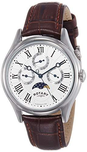 Rotary Herren-Armbanduhr XL Analog Quarz Leder GS0283801