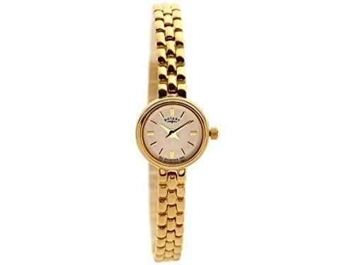 Rotary Damen-Armbanduhr Analog edelstahl Gold LB0254303
