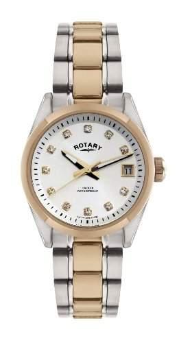 Rotary Damen-Armbanduhr XS Analog Quarz Edelstahl beschichtet LB0266202