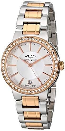 Rotary Watches Damen-Armbanduhr Lucerne Analog Quarz Edelstahl beschichtet LB9008302L