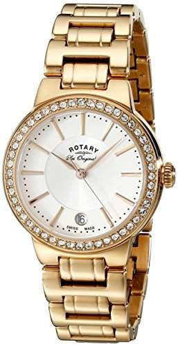 Rotary Watches Damen-Armbanduhr Lucerne Analog Quarz Edelstahl beschichtet LB9008502L