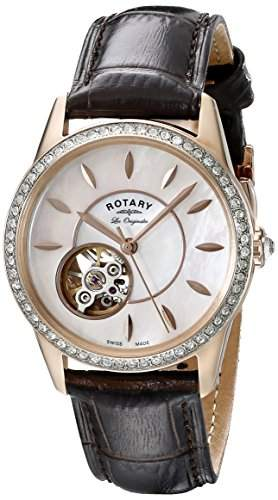 Rotary Damen-Armbanduhr XS JURA Analog Automatik Leder LS9051541