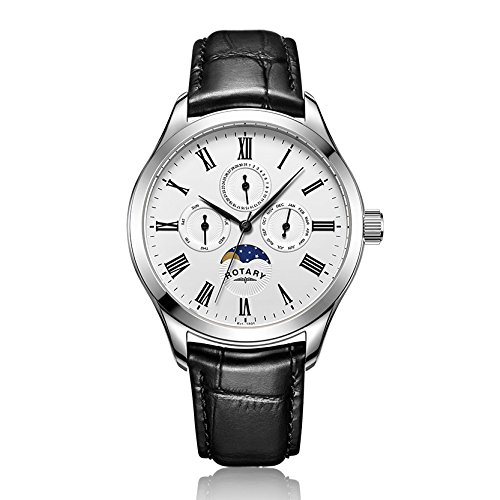 Rotary Herren Armbanduhr Chronograph Quarz Leder GS00650 01