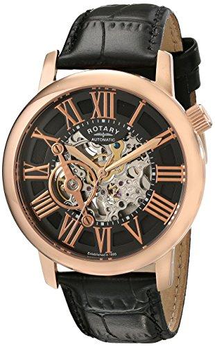 Rotary Herren 44mm Automatikwerk Mineral Glas Uhr GLE000017 10