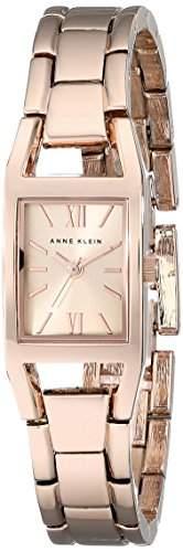 Anne Klein Damen 106418rgrg Rose goldfarbene rechteckig Fall Armband Armbanduhr
