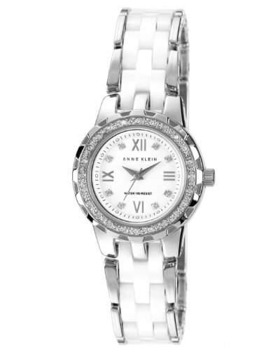 Anne Klein WomenQuarz-Uhr mit weissem Zifferblatt Analog-Anzeige und weisse Keramik-Armband N9457WTSV10