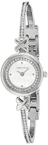 Anne Klein Damen AK1689mpsv Swarovski crystal-accented silberfarbenes Armreif Armbanduhr