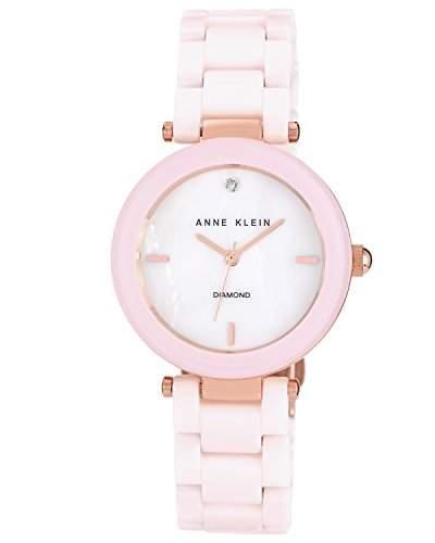 AK Anne Klein- N1018RGLP Damen-Armbanduhr Cindyrela Quarz analog Keramik Rosa