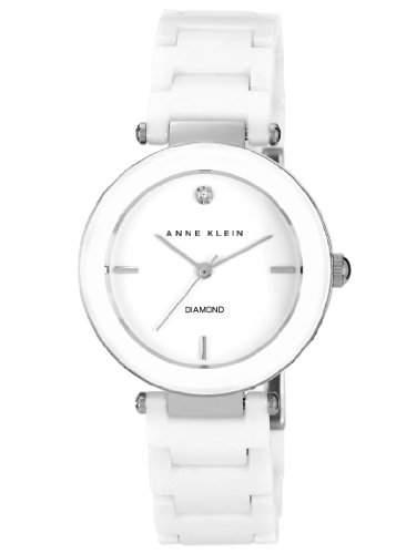 Anne Klein Damen -Armbanduhr Analog Quarz Keramik AKN1019WTWT