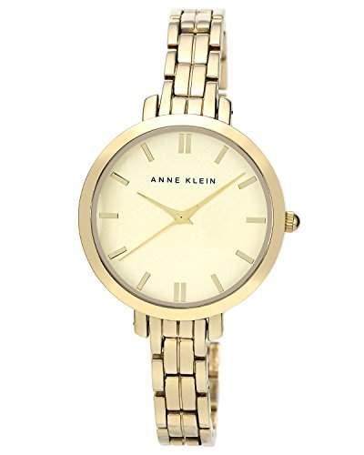AK Anne Klein- N1446CHGB Damen-Armbanduhr Alyce Quarz analog Armband Edelstahl vergoldet