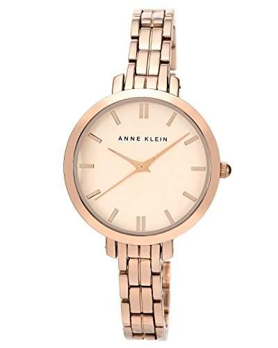 AK Anne Klein- N1446RGRG Damen-Armbanduhr Alyce Quarz analog Armband Edelstahl vergoldet