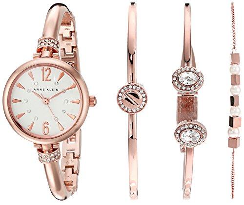 Anne Klein Damen AK 2338rgst Analog Japanisches Quartz Rose Gold Watch