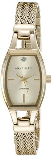 Anne Klein Damen AK 2184chgb diamond accented goldfarbene Uhr mit Mesh Armband