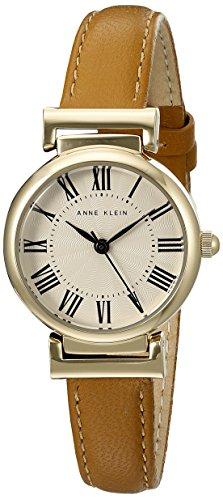Anne Klein Damen AK 2246crhy goldfarbene und Honig Lederband Armbanduhr