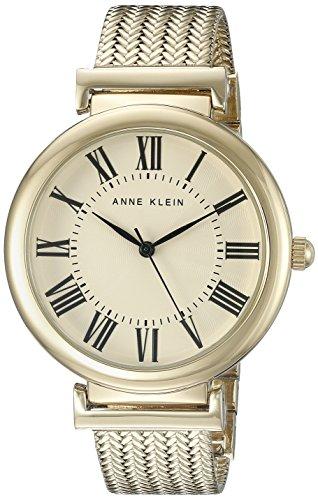 Anne Klein Damen AK 2134crgb goldfarbene Mesh Armband Armbanduhr
