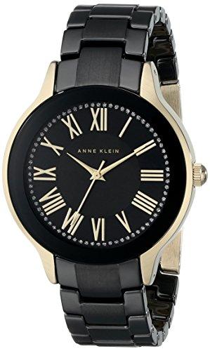 Anne Klein Damen AK 1948bkgb Necklaces Halskette und Black Watch mit Keramik Armband