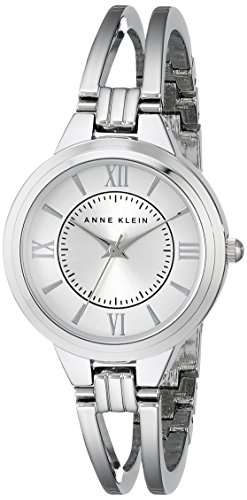 Anne Klein Damen AK 1441svsv silberfarbenes Armreif Armbanduhr