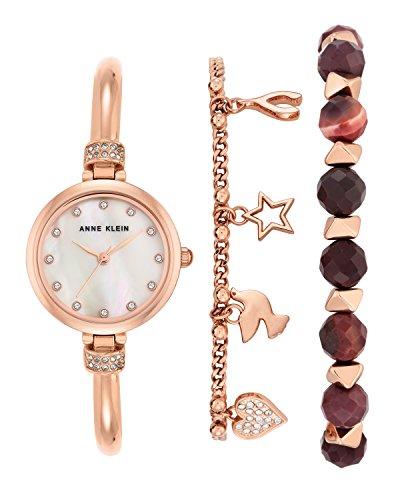 Anne Klein Damen Armbanduhr Analog AK N2840RJAS