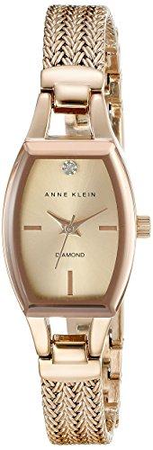Anne Klein Damen AK 2184rgrg diamond accented Zifferblatt Rose goldfarbene Mesh Armband Armbanduhr