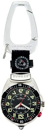 Big Face Clip, Black EL Military Dial, Silver Case, Compass