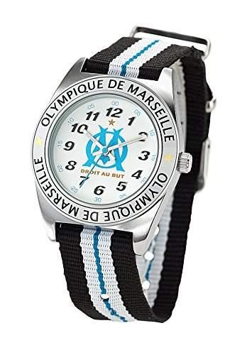 Olympique de Marseille-om8010-Zeigt Jungen-Quartz Armbanduhr EE5002Analog Nylon Mehrfarbig