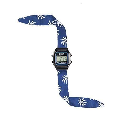 Broke-Rich Gone DLBri-Armbanduhr, Digital-analog Stoff, Schwarz