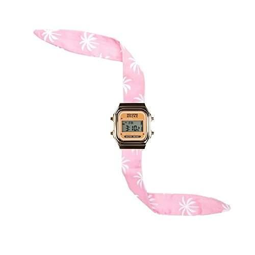 Broke-Rich Gone DLGbu-Armbanduhr, Digital analog Stoff, Rot